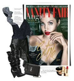 """Angelina Jolie for Vanity Fair in Saint Laurent Fall 2017"" by sella103 ❤ liked on Polyvore featuring Yves Saint Laurent"