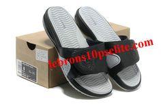 Nike Air Max Lebron Slippers Black/Grey