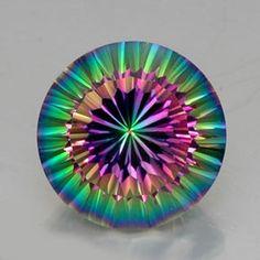 12.01ct Top Rainbow Mystic Quartz from Brazil -  it glows.