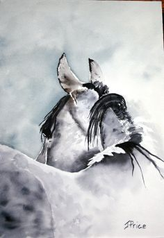 Quarter Horse Watercolor Print by JoanPriceArt on Etsy