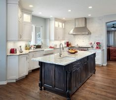 Transitional Kitchen Remodel by Kathy Jackson on Santa Monica. Paint Cabinets White, Painting Cabinets, Kitchen Ideas, Kitchen Design, Transitional Kitchen, White Paints, Santa Monica, Kitchen Remodel, Countertops