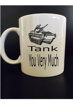 Tank you very much  Funny coffee mug by BlackCatPrints on Etsy