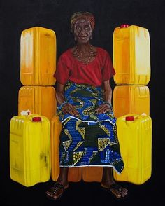 Sneak peek of a brand new work by Quarshie's practice takes its narrative from contemporary life in Ghana, with particular emphasis on the passage of water throughout Accra. Contemporary African Art, Art Hub, Accra, Ghana, New Work, Portrait, Illustration, Artwork, Painting