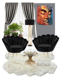 """Sin título #323"" by afritaoo on Polyvore featuring interior, interiors, interior design, hogar, home decor, interior decorating, Eichholtz y Currey & Company"