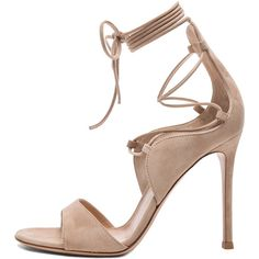 6bb3ae923b1 Shop for Gianvito Rossi Lace Up Heels in Rope Suede at FWRD.