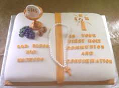 1 st communion and confirmation cake