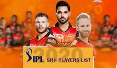 You can check here Indian Premier League Sunrisers Hyderabad Team 2020 players List, IPL 13 SRH team full squad IPL 13 SRH Team Players list. Cricket Update, Cricket News, Kane Williamson, Match Score, David Warner, Sports Update, Team Player, Hyderabad, Premier League