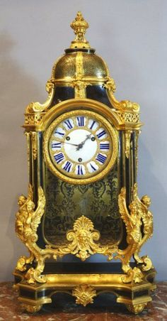 "Louis XIV Boulle Marquetry Clock Known As La Pendule aux Harpies (""The Harpy Clock"") Attributed To The Workshop Of A. C. Boulle And Designed By Jean Berain - French c. Late 17th Century (Louis XIV Period)"