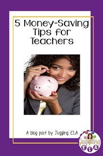5 Money-Saving Tips for Teachers We all know that teachers do not make nearly as much money as they should. Their less than extravagant. Middle School Writing, Middle School English, Fun Classroom Activities, Money Saving Tips, Money Savers, Teacher Discounts, Secondary Teacher, High School Classes, School Teacher