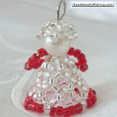 beaded christmas ornaments | beaded christmas angel beading instructions to make a christmas angel