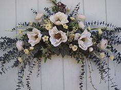 Silk floral Swags,wall swags, Silk floral Country Swags,Silk flower victorian Swags, Magnolia Swags, Rose Swag, Twig Arches, Corner swags, S...