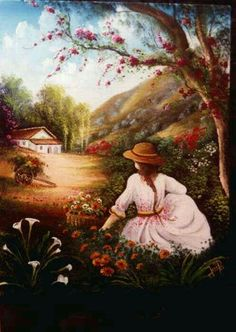Jose Raul Rodriguez – 🎭Rosemary Brown🎭 – Join in the world of pin Four Seasons Painting, Naive Art, Fantasy Landscape, Fantastic Art, Painting Patterns, Mandala Art, Portrait Art, Beautiful Paintings, Female Art