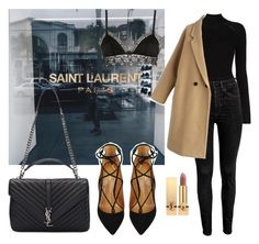 """""""Shopping day"""" by maryanacoolstyles ❤ liked on Polyvore featuring Misha Nonoo, Yves Saint Laurent, Chicwish, Ermanno Scervino Lingerie and Aquazzura"""