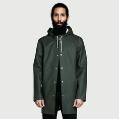 Maybe I can get one if it rains in Austin as much as it did the beginning of this year.   Stockholm Green Raincoat – Stutterheim Raincoats