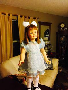 Meet the new girl Vintage Patti Playpal, Marla's doll