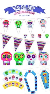 dia de los muertos printables for party by Funkytime