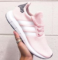 4b0bec3ab The adidas Swift Run shoes are the go-to sneaker for us all. Combining  maximum comfort with a stunning ice pink styled look.