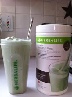 YUMMMM! Mint Chocolate Meal Replacement shake ~ if you want to try it, let me know :D     http://www.goherbalife.com/alexismarie/en-US/Page/1