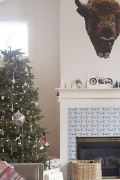 There's a buffalo in simply grove's home // Walls Need Love decal.