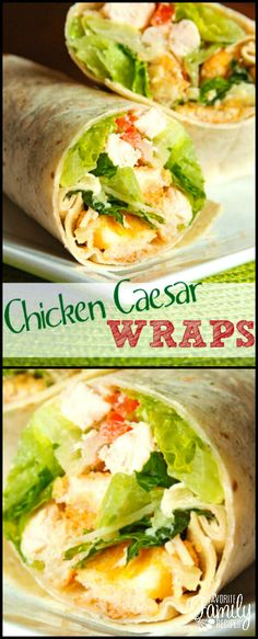 These Chicken Caesar Wraps are excellent tasting and very filling! It is like a delicious Caesar salad all wrapped up and ready to take on the go.