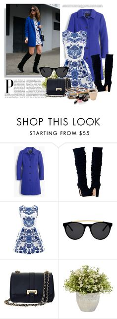 """Blue :)"" by cherry-bh ❤ liked on Polyvore featuring moda, J.Crew, Smoke & Mirrors, Aspinal of London, Nearly Natural e Chanel"