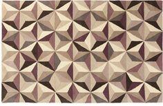 Unique geometric design, Simon Rug, Neutral/Violet