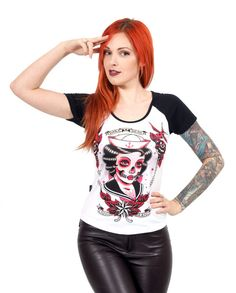 Liquor Brand Damen DARK SEAS T-Shirt.Oldschool,Tattoo,Pin up,Custom,Biker Style