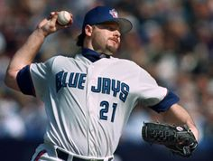 Roger Clemens only pitched for the Toronto Blue Jays for two seasons, but they were two glorious seasons. From 1997-1998, Clemens posted a 41-13 record with 563 strikeouts.