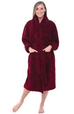 Alexander Del Rossa Womens Solid Color Fleece Robe cd6193a4e