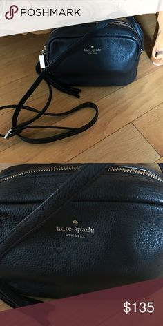 Black pebbled leather Kate spade crossbody bag Gorgeous Kate spade crossbody bag. Black leather EUC. No scratches. No trades!!!!! kate spade Bags Crossbody Bags