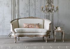ELOQUENCE® Vintage Settee More French Furniture, Classic Furniture, Home Decor Furniture, Sofa Furniture, Vintage Furniture, Retro Sofa, Sofa Design, Interior Design, Master Bedroom Interior