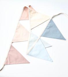 Modern Pastel Rainbow Bunting - Fabric Bunting Made to Order - Bedroom/Playroom/Photoshoot Decor Bunting Garland, Fabric Bunting, Rainbow Bunting, Rainbow Bedroom, Playroom, Unique Gifts, Banner, Pastel