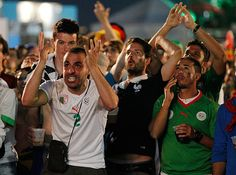 Credit: Leo Correa/AP The guy on the left seems to be wearing a 'just hit the target' expression as Algeria spurn a glorious chance to reach...