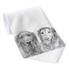 Perros perdigueros de oro Fred y Baxter Corbatas Personalizadas
