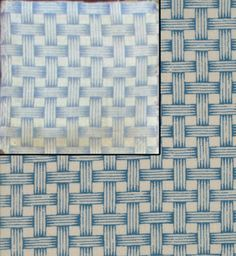 Baltimore Blues fabric, Barbara Brackman. Original document print at top left. The blue-violet shade in the original was popular in the 1870s, Brackman toned down to fit with other fabrics in line -- she says you need this pit for 1845-60 or 1879-90 quilts.