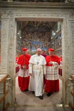 Pope Francis leaves the Sistine Chapel after being elected pope and shortly before appearing for the first time on the central balcony of St. Peter's Basilica at the Vatican March Francis Of Assisi, St Francis, Papa Francisco, Pope Francis Quotes, St Ignatius, Pope Benedict Xvi, Catholic Religion, Pope John Paul Ii, Sistine Chapel