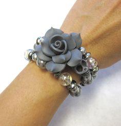 Sugar Skull Bracelet Day Of The Dead Jewelry