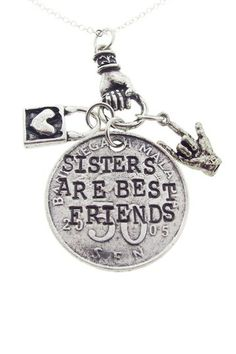 Sisters Are Best Friends Necklace