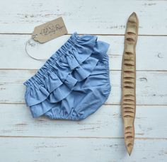 Baby bloomers in blue colour. Lilly Rose. https://www.etsy.com/shop/LillyRose2008?ref=pr_shop_more