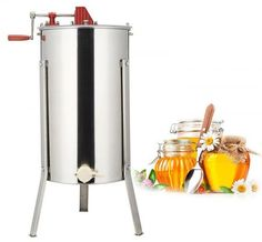 Premium quality – made of high grade 201 steel, durable and easy to clean Solid structure – two frame structure and high precision bearing Easy-to-drain honey… Honey Extractor, Honey Label, Stainless Steel Drum, Best Honey, Easy Frame, Local Honey, Look Good Feel Good, Bee, Manual