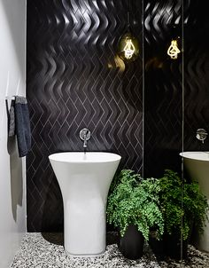 A Black & White Bathroom