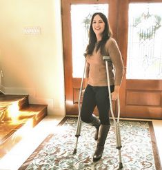 Crutches, Women, Crutch, Woman