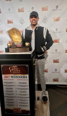 Marcus Stroman 2017 Gold Glove Winner Marcus Stroman, Eric Hosmer, Gold Gloves, Toronto Blue Jays, National League, Argos, Baseball, Sports, Sport