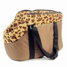 Perro bolsa de transporte, bolsa de viaje bolsa de transporte para perros y gatos bolsa de lunares de color rosa estampado de leopardo pequeño perro gato bolsa de Camuflaje Estrella
