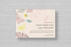 Spring Butterflies Wedding Invitations from MarryMoment