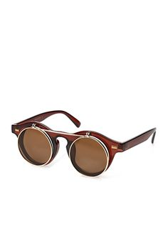 Need these Round Flip-Up Sunglasses | 21 MEN - 1000121424