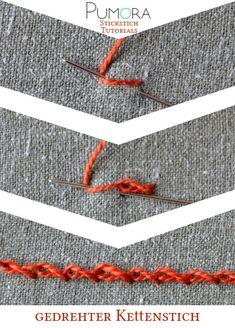 Pumora's Lexikon der Stickstich: gedrehter Kettenstich Tutorial                                                                                                                                                                                 Mehr