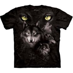 The Mountain MOON EYES COLLAGE Wolves T-Shirt S-3XL NEW #TheMountain #GraphicTee