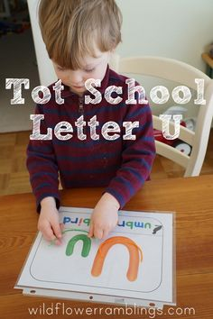 Tot School Printables Letter U is for Umbrella from Wildflower Ramblings #totschool