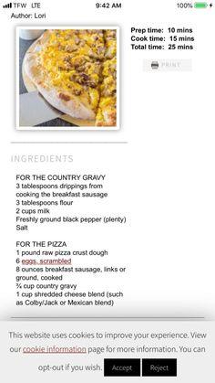 Breakfast Potatoes Easy, Sausage Breakfast, Colby Jack, Gravy, Homemade, Vegetables, Cooking, Food, Kitchen